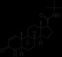 Molecola Finasteride.